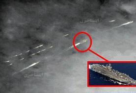 ببینید | تصویر ماهوارهای از قایقهای تندروی سپاه در نزدیکی ناو هواپیمابر آبراهام لینکن آمریکا ...