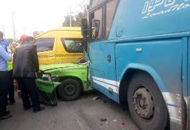 تصاویر برخورد اتوبوس با هفت خودروی پارکشده در ولنجک | چهار کشته و زخمی در حادثه مرگبار بلوار دانشجو