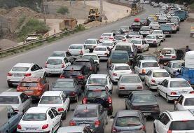 اعمال محدودیت ترافیکی در جاده کرج - چالوس برای جمعه
