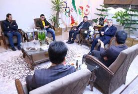 نشست علیرضا دبیر، محمدی و بنا با رئیس کمیته ملی المپیک