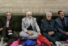 تصاویر: مجری معروف  و مسئولان در مراسم ختم مرحوم موسویقهار