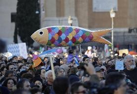 «ساردینها» علیه فاشیسم و راست افراطی در ایتالیا شعار دادند