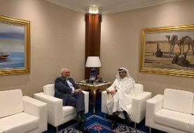 ظریف با وزیر خارجه قطر دیدار کرد