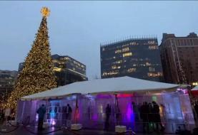 فیلم | بنای یخی وسط شهر
