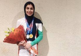 مدال طلای دختر سنگنورد ایران در  ماده سرعت قهرمانی آسیا