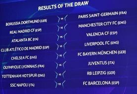 برنامه بازیهای یک هشتم نهایی لیگ قهرمانان اروپا