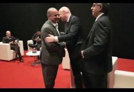 دیدار بیرانوند با ژاوی در مراسم برترینهای فوتبال آسیا