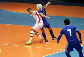 شکست تیم ملی فوتسال ایران مقابل بلاروس در نیمه نخست
