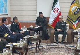 معاون روابط بین الملل ارتش چین با سرلشکر باقری دیدار کرد