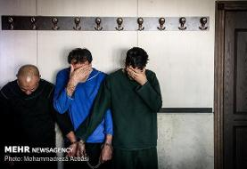 دستگیری ۹ تبهکار حرفه ای در پاتوق افیونی
