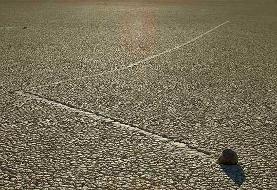 قایقرانی سنگ ها در دره مرگ! +عکس