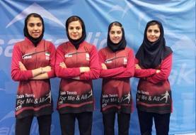 شکست تیم تنیس روی میز بانوان ایران در مسابقات فنلاند