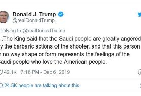 Pensacola shooting: Saudi king condemns 'barbaric' attack