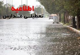 بارش باران مدارس شهرستان کهنوج را به تعطیلی کشاند