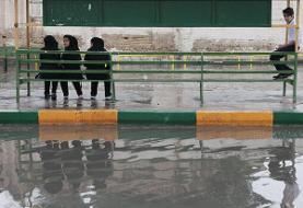 مدارس ۸ شهر خوزستان به خاطر آبگرفتگی تعطیل شد