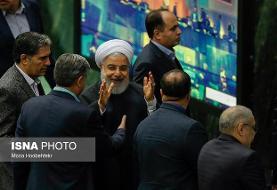 رئیسجمهور جلسه علنی مجلس را ترک کرد/ تشکر «لاریجانی» از «روحانی»