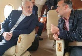 سلیمانی در راه بازگشت به تهران به همراه ظریف+عکس