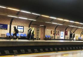 کشف بسته مشکوک در مترو میرداماد تهران