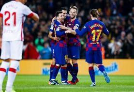 فیلم | بارسلونا ۵ بر ۲ مایورکا را در هم کوبید | لیونل مسی یک رکورد دیگر رونالدو را شکست