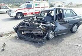 تصادف زنجیرهای جاده سبزوار - میامی/ ۹ نفر زخمی شدند