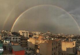 رنگینکمان، هدیه باران به تهرانیها