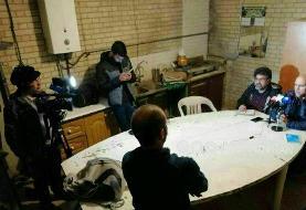 نشست خبری منصوریان و مهاجری در تاریکی/عکس