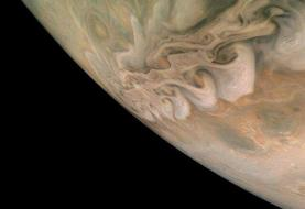نمایی متفاوت از سیاره مشتری؛ عکس روز ناسا