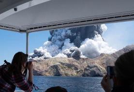 فیلم   فوران آتشفشان جزیره سفید نیوزیلند ؛ ۵ نفر کشته شدند