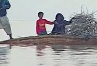 آب هیرمند به تالاب خشکیده هامون در افغانستان و ایران رسیده است