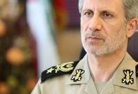 وزیر دفاع: مردم با حضورشان، محکم و با صلابت پاسخ دشمن را دادند