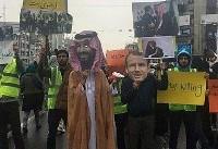 المسیره : راهپیمایان ایران جنایتهای تجاوز به یمن را به تصویر کشیدند