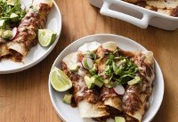 For more streamlined chicken enchiladas, use a slow cooker