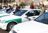 زمین گیری سارق حرفهای با شلیک مأموران گشت پلیس