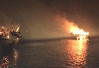 آتش سوزی دربندرعامری تنگستان مهار شد