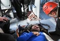 نجات معجزه آسای کوهنوردی که به دره ۱۵۰ متری تفتان پرت شد