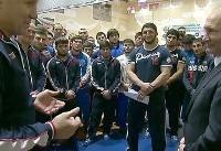 حضور ولادیمیر پوتین در اردوی تیم ملی کشتی آزاد روسیه