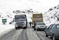 بارش برف در ارتفاعات محورهای هراز و کندوان/ سطح جادهها لغزنده است