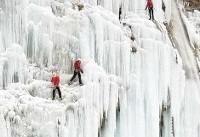 برفبازی در آبشار یخی هملون