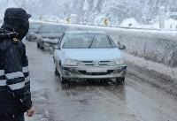 بارش برف و باران در محورهای مواصلاتی مازندران