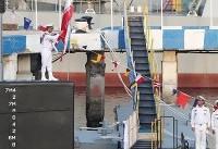 ویدئو / مراسم الحاق زیردریایی فاتح به نیروی دریایی ارتش