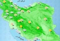 کدام استانها باران میبارد؟+نقشه