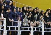 حضور اعضای تیم ملی وزنهبرداری بانوان/ سرمربی تیم ملی والیبال آمد