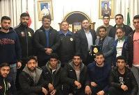 دیدار تیم ملی کشتی فرنگی با سفیر ایران در مجارستان