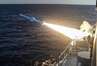 شلیک ٣ فروند موشک کروز از روی شناور و پرتابگرهای ساحلی
