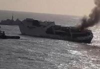 کشتی باری حامل مواد شیمیایی خطرناک در نزدیکی فرانسه غرق شد