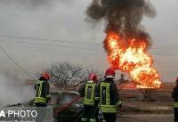 بازگشایی مسیر آزاد راه اهواز - ماهشهر پس از انفجار خط لوله گاز
