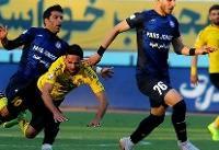 تساوی سپاهان با فولاد خوزستان در نیمه نخست