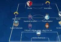 هافبک استقلال در تیم منتخب هفته دوم لیگ قهرمانان آسیا +عکس