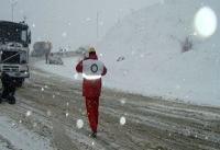 امداد رسانی ارتش به مسافران نوروزی گرفتار در برف