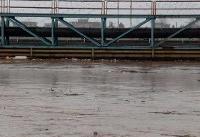 سطح آب گرگانرود در محدوده شهر گنبد کاهش یافت